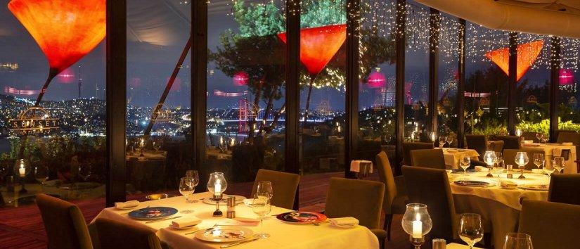 استنبول کے بہترین مناظر والے ریستوراں